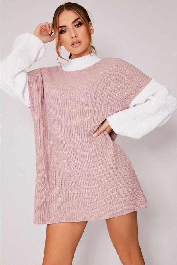5219a74387c73 Dani dyer pink colour block jumper dress in 2019 | poses | Jumper ...