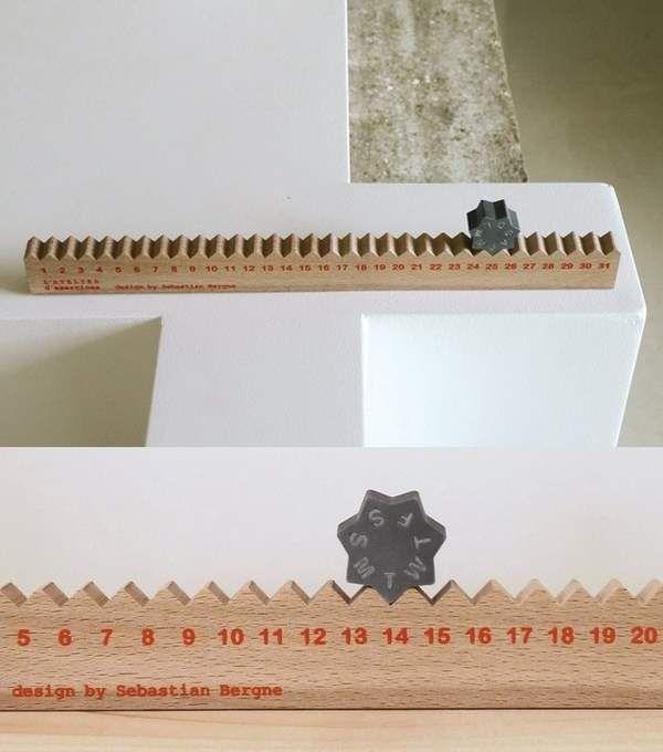 Calendario de madera. #creatividad