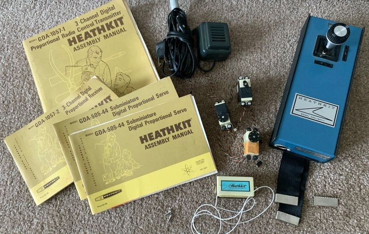 Vintage Antique Heathkit RC Remote Control Airplane Single