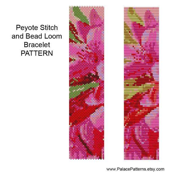 Bracelet Pattern for Single Peyote Stitch or Bead Loom Weaving - PP140