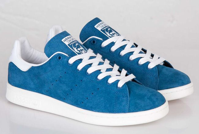 adidas Stan Smith  Suede  (Tribe Blue  842aabea6