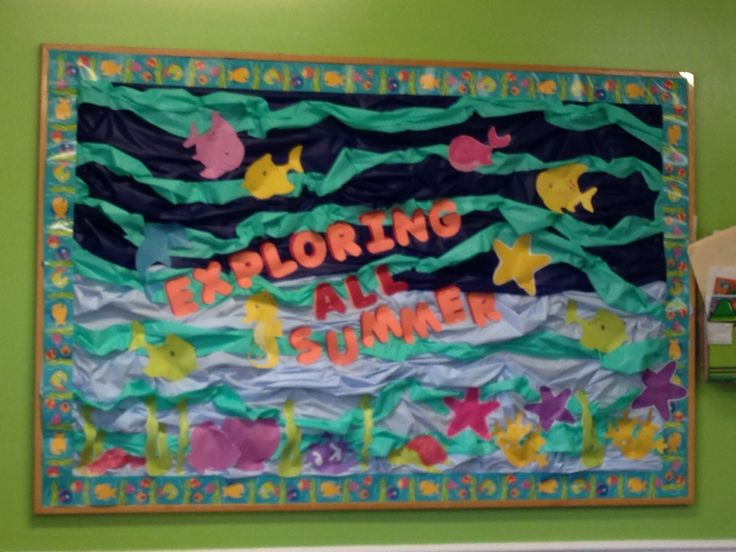 39 best images about summer bulletin boards on pinterest for Fish bulletin board