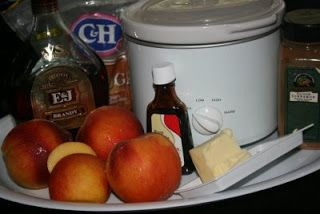 CrockPot Peach Compote Recipe