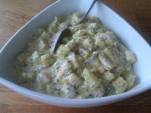 "Dillstuvad ""potatis"" – zucchini"