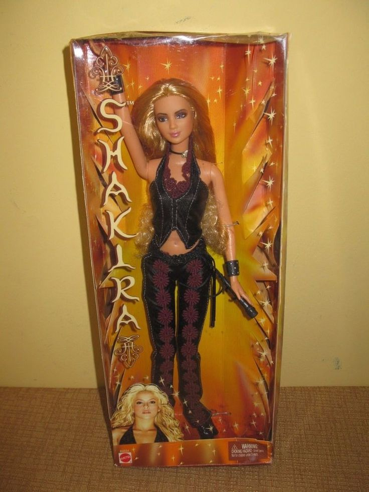 2002 Shakira Concert Doll Barbie Latin Pop Singer  B4534 blonde vest celebrity #Mattel #Dolls