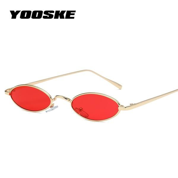 6714e7ccf431 #FASHION #NEW YOOSKE 2018 Small Oval Cat Eye Sunglasses Women Retro Brand  Designer Red Sun Glasses Men Small Round Glasses Female