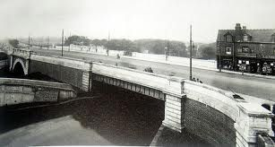 Salford Bridge pictured in its pre-Spaghetti Junction days (it's now dwarfed by the sprawling interchange)