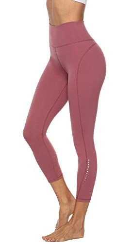 a948e5fd744f8 Edeey Womens Workout Leggings High Waisted Active Pants for Yoga with 2  INNER POCKETS (Misty Merlot M)