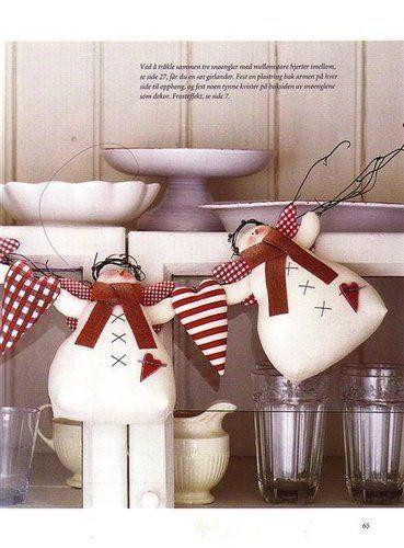 Тильда Снеговик: выкройка мягкой игрушки для шитья