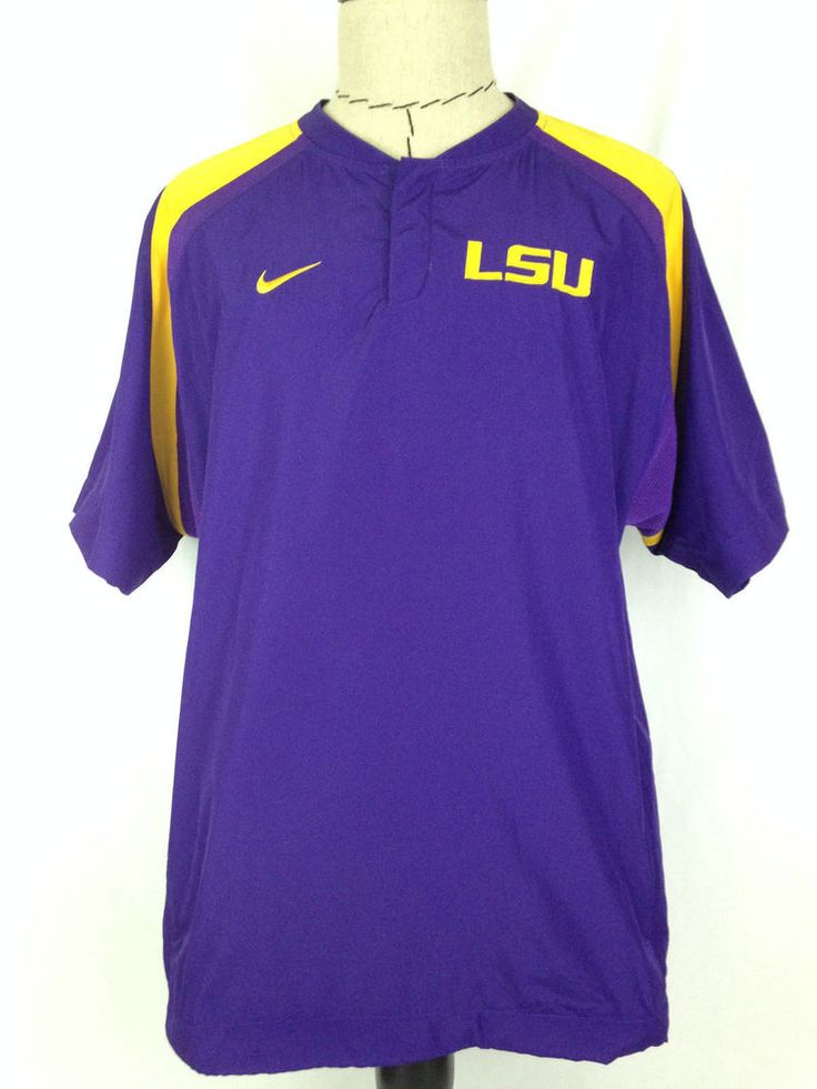 LSU Tigers Mens Pullover Shirt M Nike Football Purple Gold Louisiana State SEC #Nike #LSUTigers #LSU #Tigers #Football #Hoodie #SEC #Ebay #EbaySeller #EbaySellers #EbayDeals #EbayStore #EbayLife #EbayReseller #Thrift #Thrifting #ThriftingLife