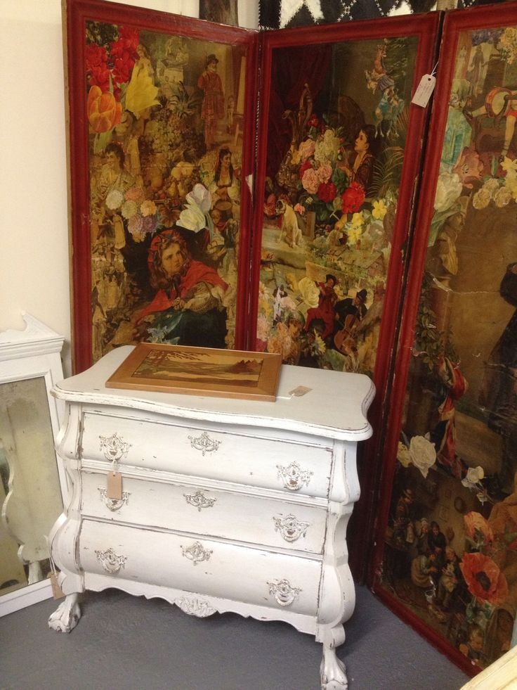 French Bombe Style Chest Of Drawers Painted Furniture