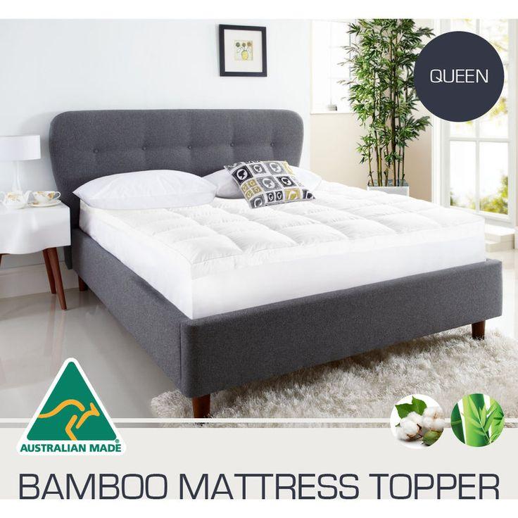 Aus Made Queen Microfibre Bamboo Mattress Topper Toppers