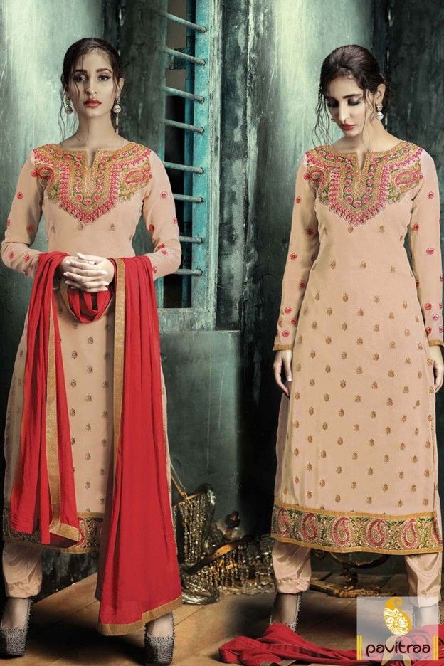 Peach Color Santoon Embroidery Work Salwar Suit EID Festival Special Offer: Buy 2 Products - Flat 5% off Buy 4 Products or more - Flat 10% off Buy 6 Products or more - Flat 15% off more: http://www.pavitraa.in/catalogs/embroidered-straight-salwar-kameez-collection/ more: http://www.pavitraa.in/?utm_source=rn&utm_medium=pinterestpost&utm_campaign=10jun