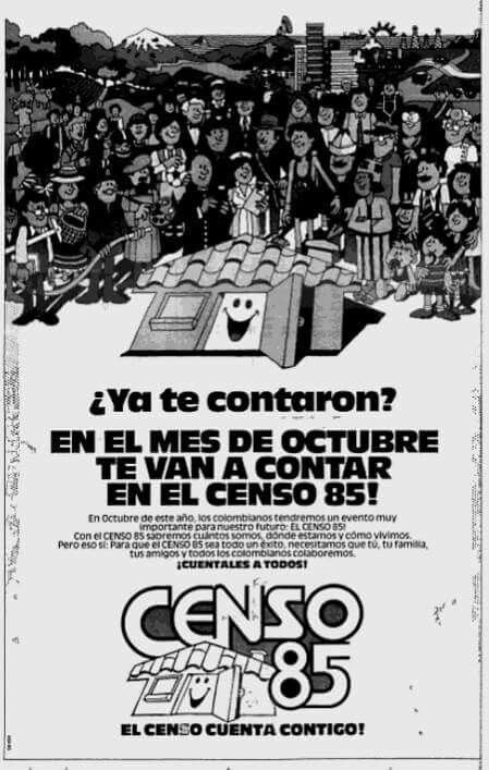 Censo colombia 1985