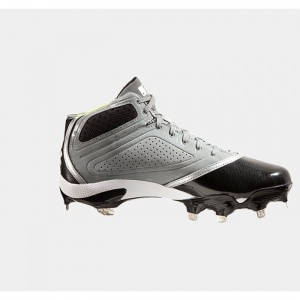 Under Armour UA Baseball Cleats Mens Gray Leather - ONLY $89.99