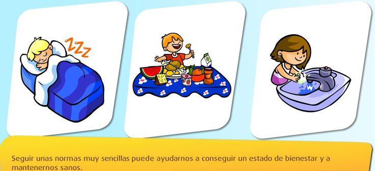 Recursos interactivos online sobre La salud y los hábitos saludables para niños de 6to grado de educación primaria. Estos enlaces pueden ayudarnos en el uso de las T.I.C en educación primaria.
