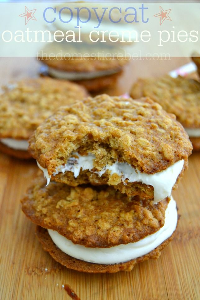 Copycat Oatmeal Creme Pies are the solution to any snack-cake craving! Make this classic snack at home for soft, chewy, and buttery homemade oatmeal creme pies!
