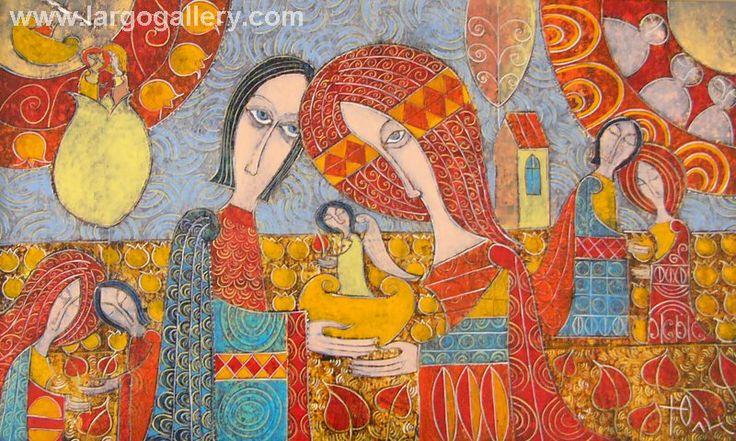 "Yuli Shumarev, ""Daily sleep"", oil, canvas, 33/55 http://www.largogallery.com/"