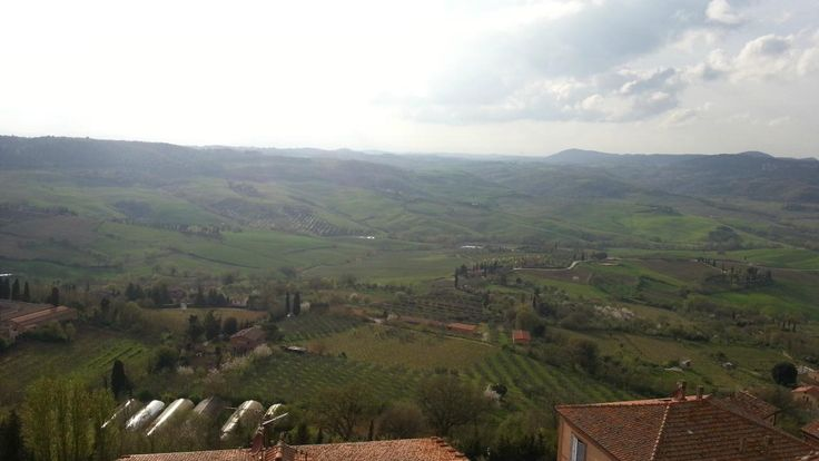 The view at #LocandaSanFrancesco, #boutiquehotel in #Montepulciano, Tuscany