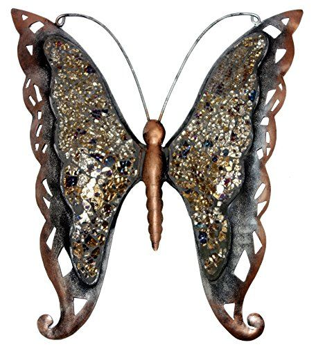 Indian Butterfly Wrought Cast Iron Home Decor Wall Sculpture 16 X 15 Inches (Golden) Lalhaveli http://www.amazon.com/dp/B00Q1AU800/ref=cm_sw_r_pi_dp_Bia9vb0JDSPEY