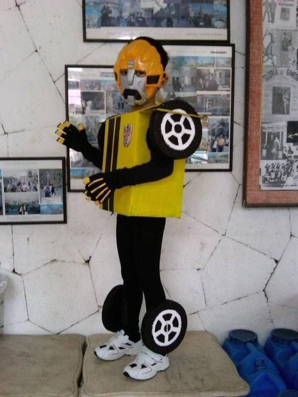 How to make an chracter costume. Transformers Bumble Bee Costume - Step 14