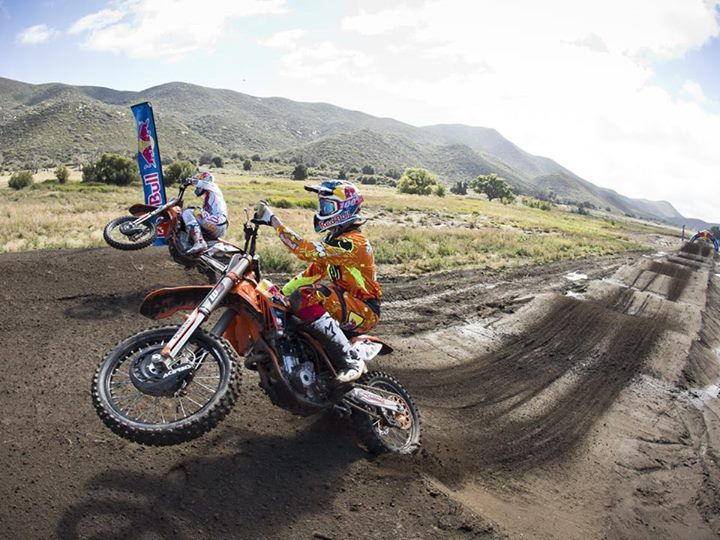 Red bull straight rhythm section. Ryan Dungey and Marvin Musquin.