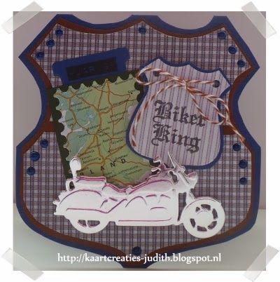 Kaarten en Creaties van Judith: Toeren op de motor...