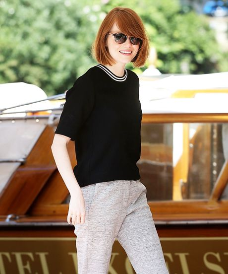 Emma Stone Shows Us How To Do Sporty For Work #refinery29  http://www.refinery29.com/2014/08/73705/emma-stone-sporty-fashion-trend