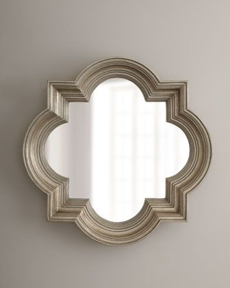 Silvery Quatrefoil Mirror at Horchow