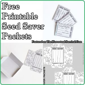 The Homestead Survival | Free Printable Seed Saver Packets For Creating A Seed Bank | http://thehomesteadsurvival.com