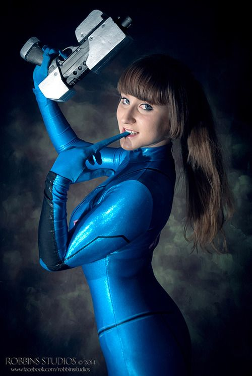 Enchanted Cupcake Cosplay as Samus Aran Zero Suit Version from Metroid.