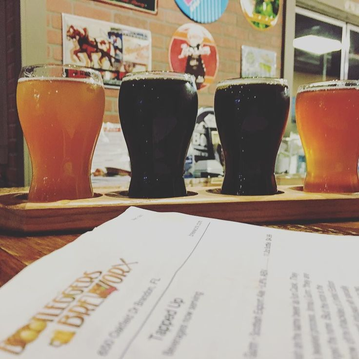 Did some #brewery hopping on Sunday. Stopped by @brewworx_brewery in Brandon. They've been open as a #craftbeer & wine home brew shop & have now evolved to serving their own #beer on tap. While they have guest taps this weekend was the launch of their own beers on tap. I got a #beerflight with my favorite being their #ipa