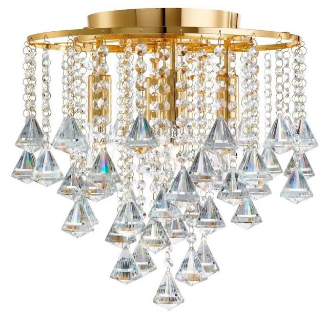 3494-4GO DORCHESTER - stropné krištáľové svetlo zlaté- 500mm