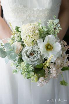 アネモネ×ブルーラナンキュラス ナチュラル クラッチブーケ bridal bouquet