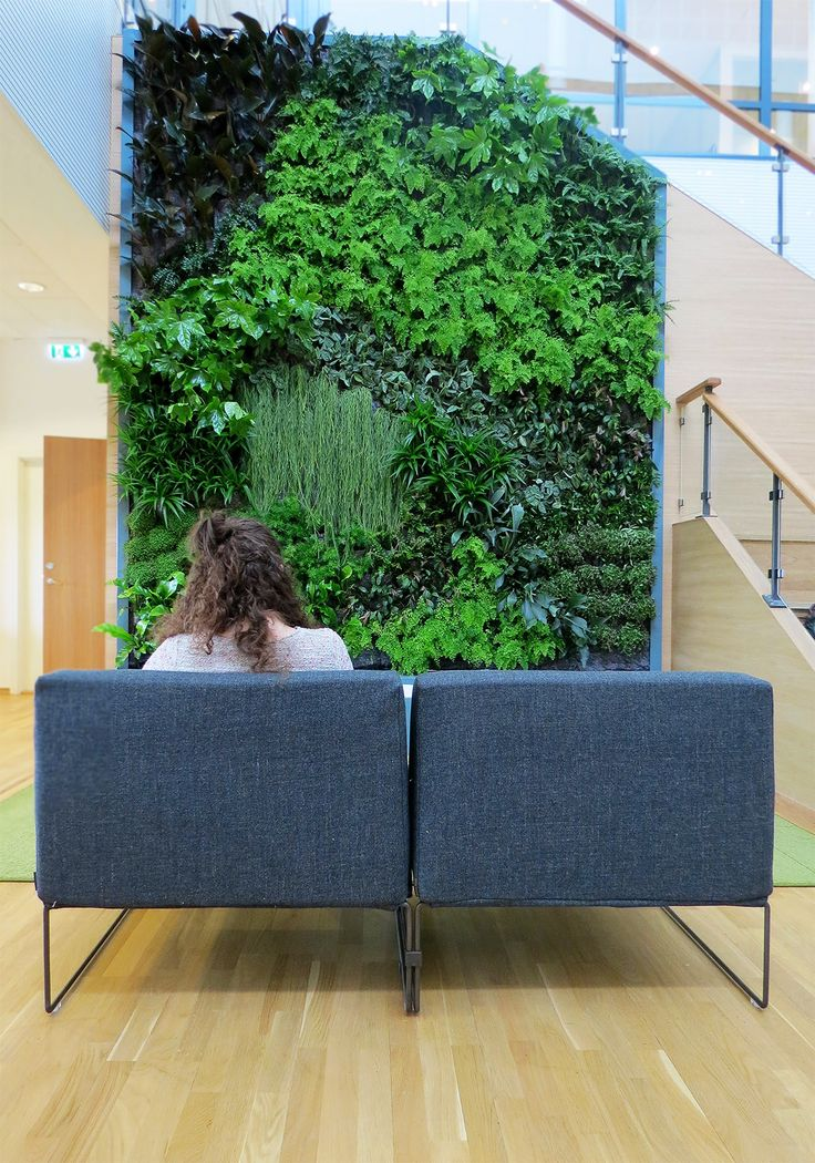 """""""Nature isn't just beautiful. Even if in small doses, it changes the way we feel."""" Office design_Solna, Stockholm"""