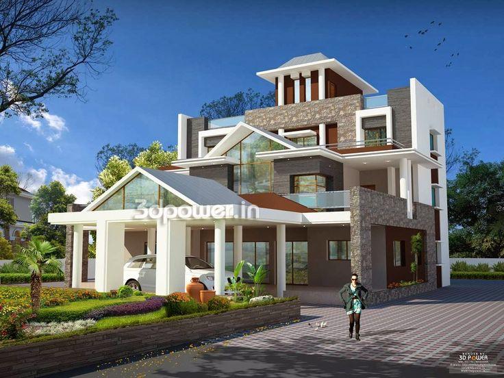 Ultra Modern Home Designs  House 3D Interior Exterior Design Rendering    allen richard   Pinterest   Exterior designUltra Modern Home Designs  House 3D Interior Exterior Design  . Modern Houses Interior And Exterior. Home Design Ideas