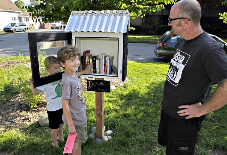 Little Free Libraries can be a friendly way to share books with neighbors.