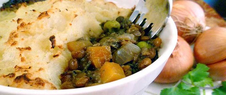 A healthy and wholesome Vegetarian Shepherd's pie recipe