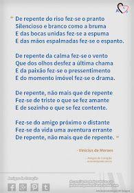 Soneto de Separação - Vinicius de Moraes