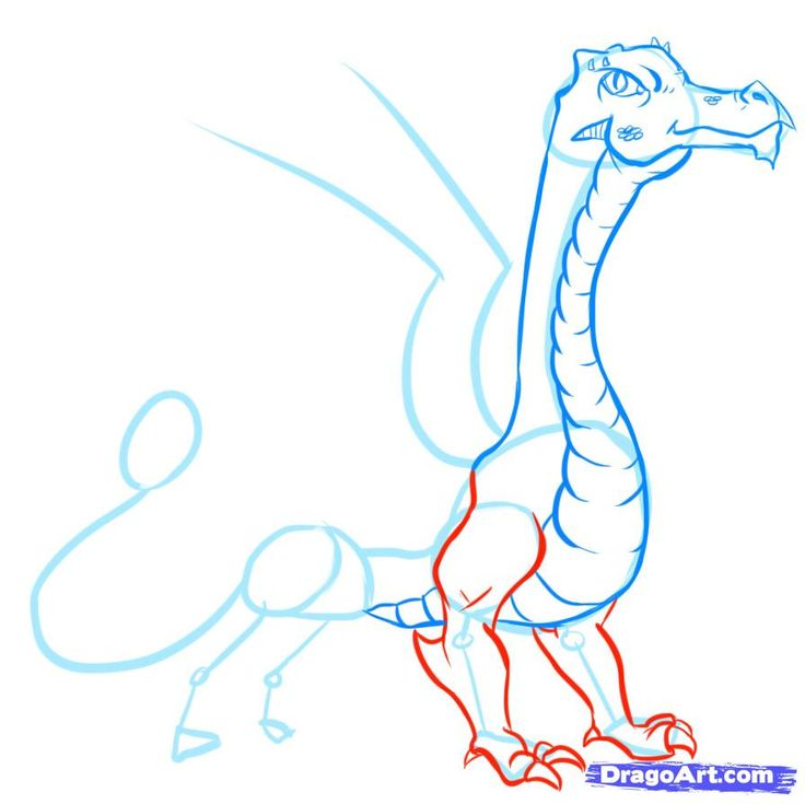 127 best dragons and fire images on pinterest drawing tutorials how to draw easy dragons step 12 ccuart Choice Image