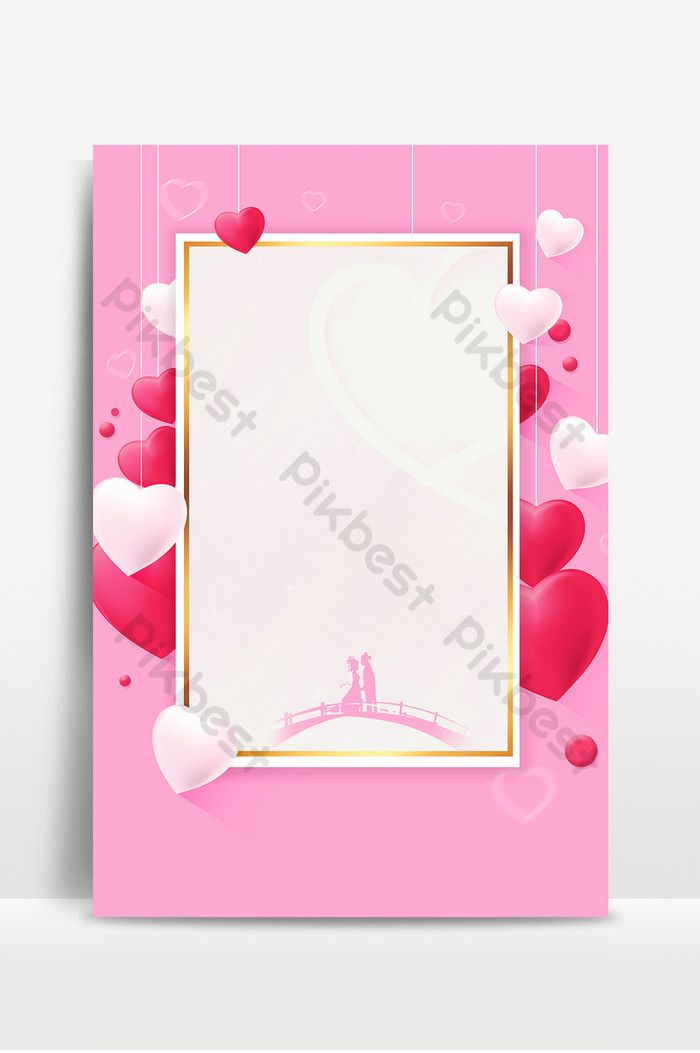 Romantic Beautiful Chinese Valentines Day Promotion Poster