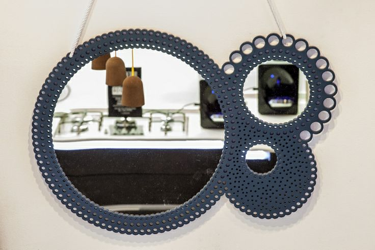 Images of new Ecoepoque design products from #designspeaking at #milandesignweek, this is Bucatino mirror by designer Eloisa Libera