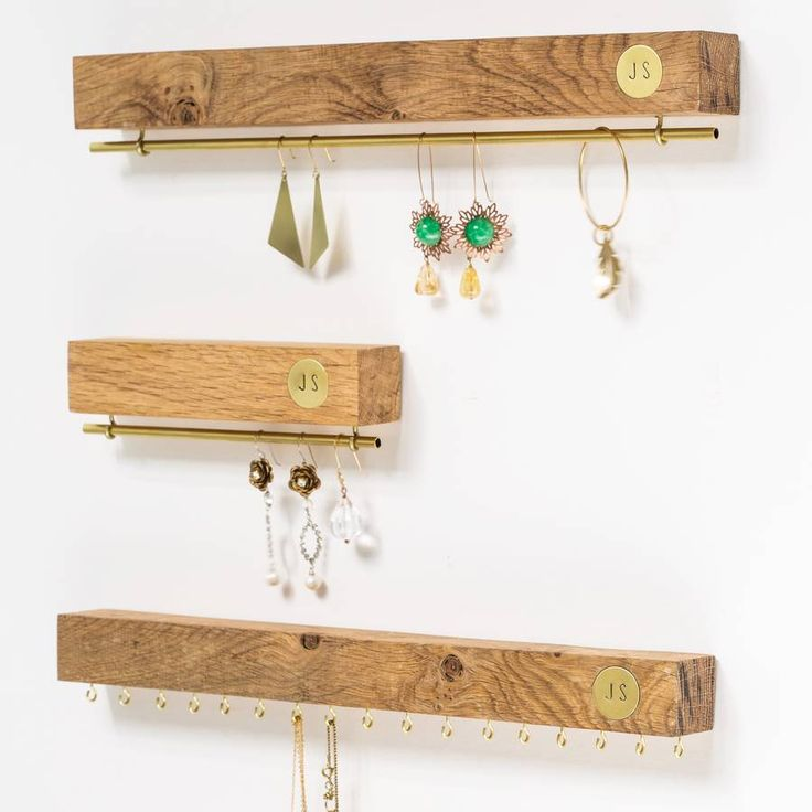 Personalised Oak And Brass Jewellery Stand More