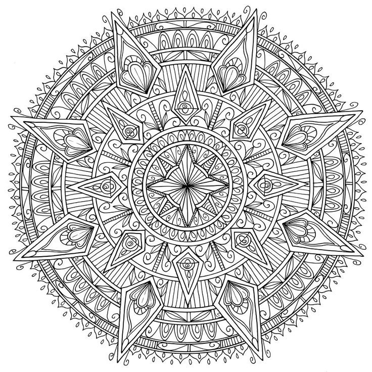 2115 best mandalas images on Pinterest  Coloring books Adult