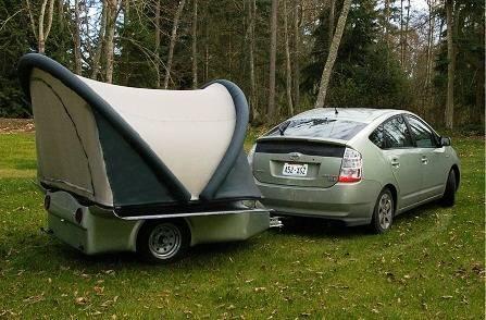 Scarab Ultralight 2010 Tent Trailer with Prius - Michael Setzer