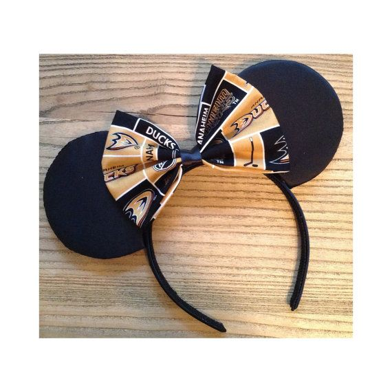 Black Anaheim Ducks Mouse Ears on Etsy, $26.00