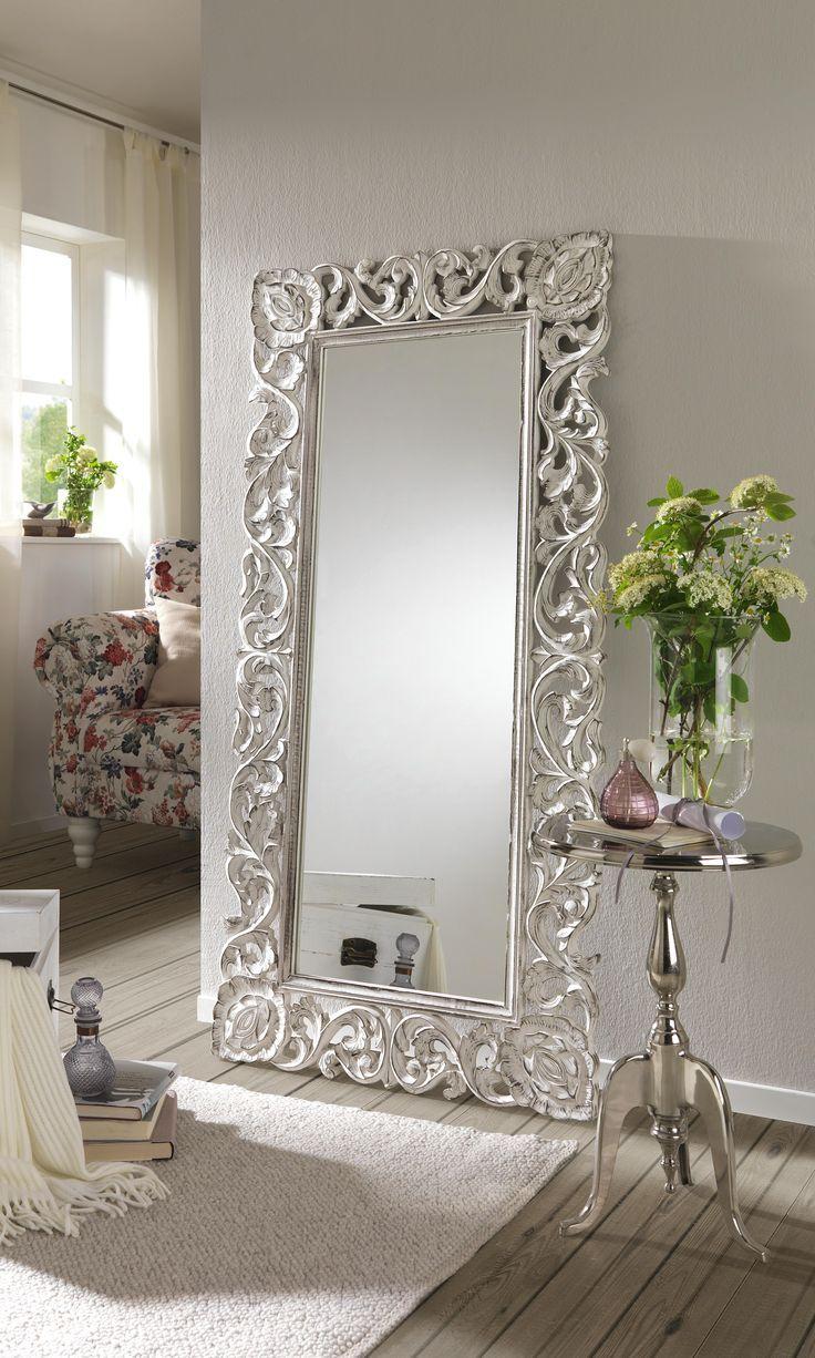SPIEGEL Weiß Spieglein Spiegleich an der Wand der opulente Spiegel