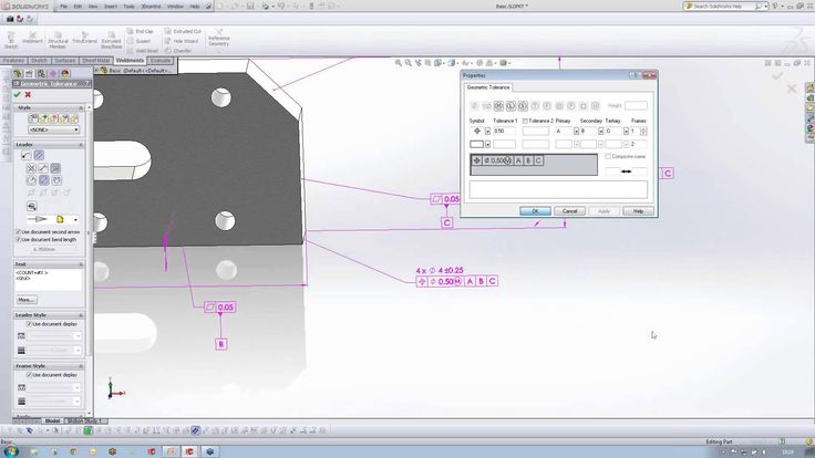 Dimxpert 3D Geometric Tolerancing in SolidWorks