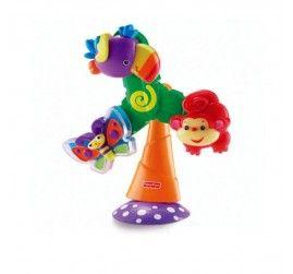 Üzerinde üç sevimli hayvan figürünün olduğu bu oyuncak adeta bir yel değirmenini andırır.  Bebeğiniz çevirdikçe üzerindeki hayvanlar dönmeye başlar.  Sevimli papağan şarkı söyler, uç uç kelebek şıngırtılı sesler çıkarır ve eğlenceli maymuncuk da hızla döner.