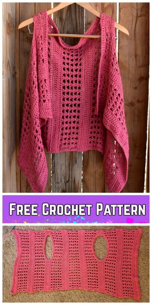 Crochet XOXO Summer Vest Free Crochet Pattern